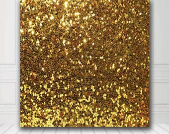 Photobooth Backdrop - Photography Backdrop - Gold Glitter Backdrop - Digital/Vinyl Printed Product - FREE SHIPPING