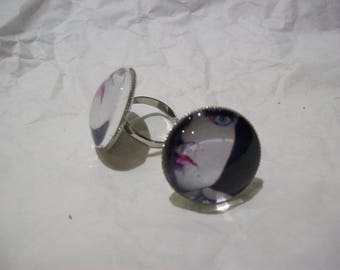 """Round Type O Negative Inspired Fully Adjustable inspired """"Pete Steele"""" Ring"""