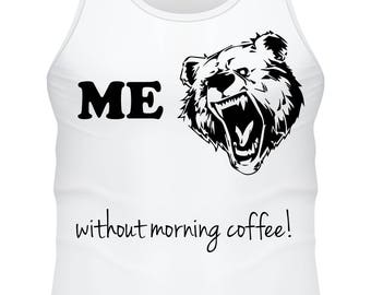 Tank top white- Before mornig coffee- F-WD-005