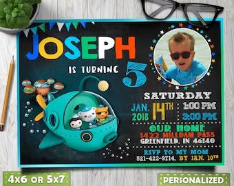 octonauts invitation, octonauts birthday, octonauts party, octonauts party favor, octonauts invitation with photo, octonauts invite, for boy