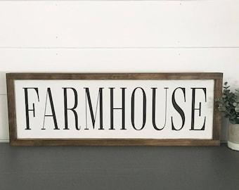 WOOD SIGN | FARMHOUSE | Modern Farmhouse Sign | Hand painted | Wall Art | Home Decor