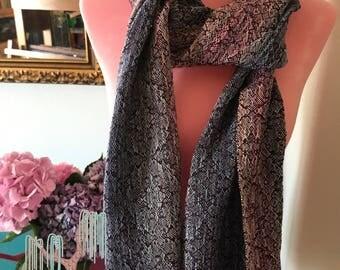 Snake skin weave scarf