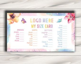 Newest style LLRoe Business card size 3.5 x 2 in MY SIZE Instant Download Home Office Approved Colors and Font - watercolour