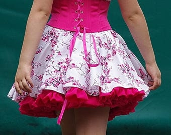 Corset, skirt for a flower child or flower girl