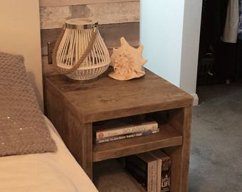 Bedside Table With Shelf - 60 x 50 x 40cm