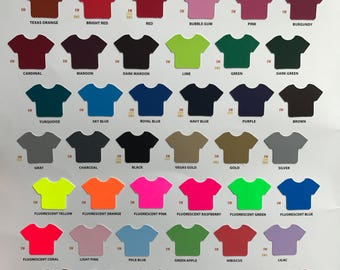 Available Vinyl Color Choices