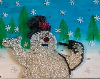 Frosty the snow man quilling