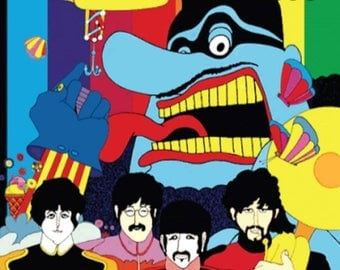 Beatles Yellow Submarine Cross Stitch Pattern***L@@K***