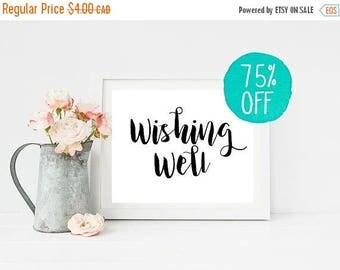 Wishing Well Sign, Wishing Well, Wishing Well Wedding, Wedding Sign, Wedding Signs, Printable Sign, Printable Signs, Wishing Sign, DIY