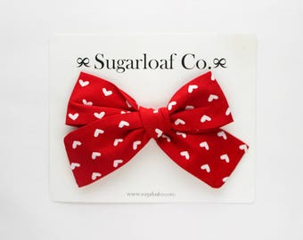 Lolli Bow | Valentina | Hand Tied Bow on a Stretchy Nylon Headband or Alligator Clip