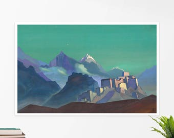 """Nicholas Roerich, """"Morning Star"""". Art poster, art print, rolled canvas, art canvas, wall art, wall decor"""
