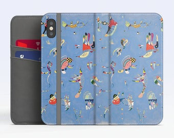 "Vassily Kandinsky, ""Sky Blue"". iPhone X Flip case, iPhone 8 Flip case, iPhone 7 Flip case, iPhone 6 Flip case. Samsung Flip cases."