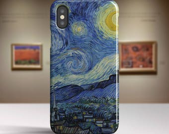 "Vincent Van Gogh iPhone X Case ""Starry Night"" iPhone 8 Case Art iPhone 8 Plus Case iPhone 7 Case iPhone 7 Plus Case and more TOUGH cases."