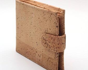 Natural cork men cork wallet vegan wallet handmade casual wooden wallet from Portugal Bag-199