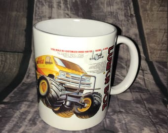 Lunchbox Coffee Mug with optional Keychain, gift for RC lover, RC Car Coffee Mug, Gift for Him, Radio Controlled Car Mug, RC car gift
