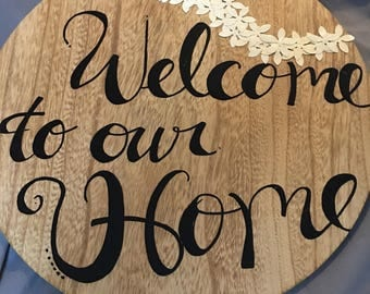 welcome to our home wall decor