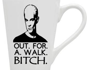 Buffy the Vampire Slayer Spike Out For A Walk Bitch Horror Mug Coffee Cup Gift Home Decor Kitchen Halloween Bar