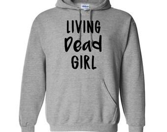Living Dead Girl Zombie Unisex Hoodie Pullover Hooded Sweatshirt Many Sizes Colors Custom Horror Halloween Merch Massacre