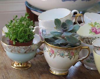 12 x vintage china tea cups for crafting