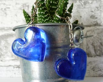 Cute Little Resin Love Heart Keyring, funky, valentines, sweetheart, loveheart