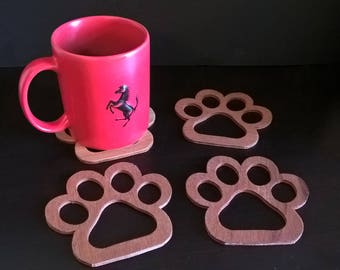 Animal foot coasters, great gift!
