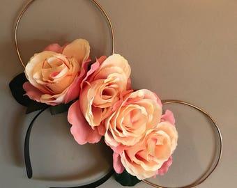 Disney Inspired Rose Wire Ears
