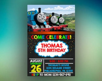 Thomas The Train Birthday Invitations, Thomas The Train Birthday, Thomas The Train Invitation, Thomas The Train Party, Thomas the train