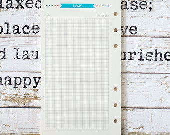 Planner Inserts - Today | Inserts Kawaii | Paper Insert Daily