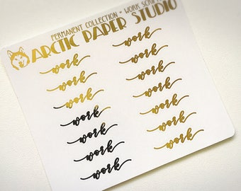 Work Scripts (AN) - Premium Permanent Collection - FOILED Sampler Event Icons Planner Stickers