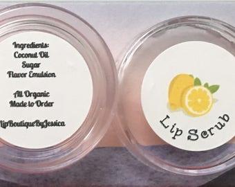 Lemon Lip Scrubs!