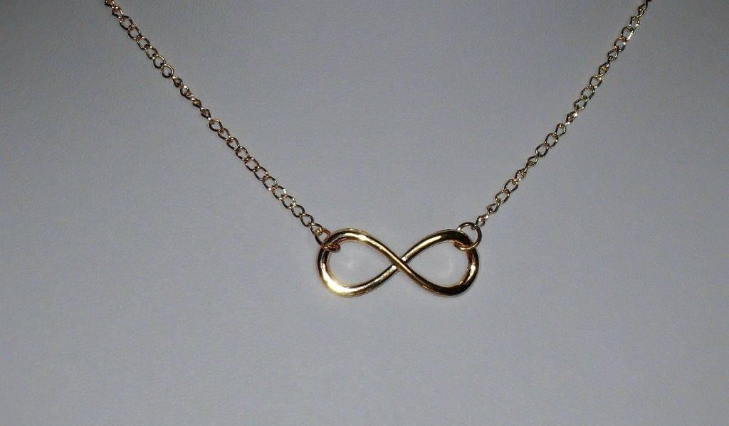 Infinity Symbol Necklaceinfinity Symbol Jewelrygold Infinity