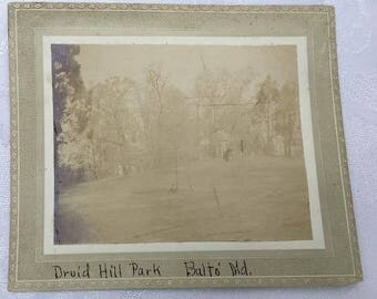 Antique Cabinet Real Photo of Druid Hill Park Baltimore Maryland MD