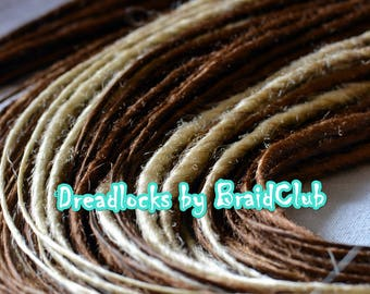 Classical two - color  synthetic dreadlocks
