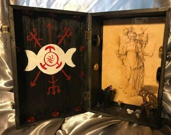 Large Hekate Altar Shrine Box