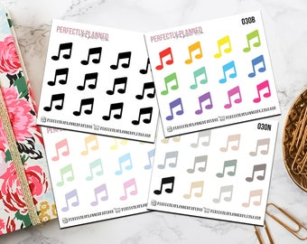 030 | Music / Mini Icon Planner Stickers