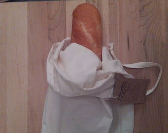 Organic cotton baguette bread bag