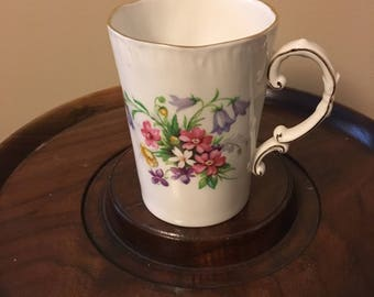Royal Adderley Floral Patter Fine Bone China Cup