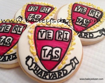 Harvard Logo Cookie favors | Ivy League | College mascot | College care package | Away at college | University Logo and personalized jerseys