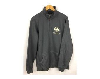 CANTERBURY of New Zealand Long Sleeve Sweatshirt Neck Zipper Extra Large Size