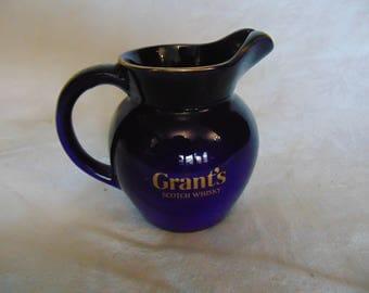 Vintage Grants scotch whisky jug, small