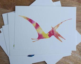 Watercolor Pterodactyl Print