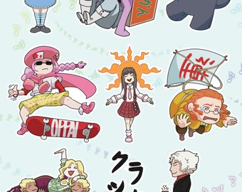 Classicaloid Sticker Sheet 5 x 7