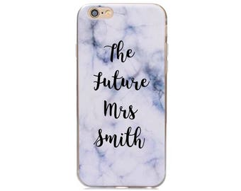 Personalised wedding phone case vinyl the future mrs phone case bride transfer sticker for phone