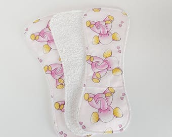 Small baby burp rags; Baby girl napkins; baby wipes