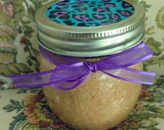 Lavender and Rose Himalayan Pink Sea Salt Facial Scrub