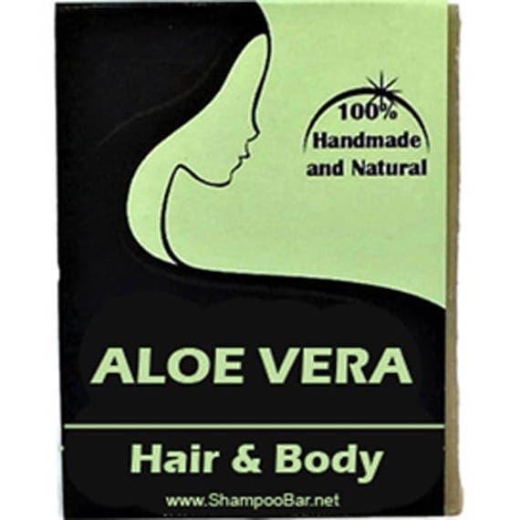 ALOE VERA Shampoo Bar - SLS Free Shampoo - Paraben Free - Natural Shampoo - Natural Aloe Vera Body Wash - Aloe Solid Shampoo - Sulphur Free