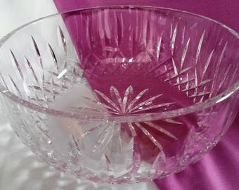 "Waterford Crystal Lismore Bowl Round 8"" Heavy 3.3 Lb"