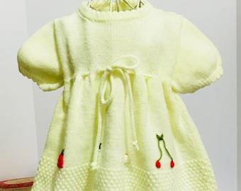 Vintage Knit Baby Dress