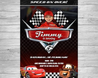 Disney Cars Birthday Invitation, Cars Party Invite, Lightning McQueen Birthday Invitation, Disney Cars Printable Invite, Cars Birthday Party