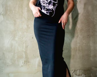 Black Skirt/  /Teneta Wear/Cute Bad Skirt